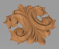 Код ДЦ23. Резной деревянный декор для мебели. Декор центральный, фото 1