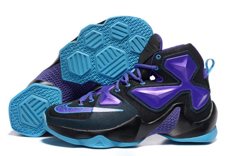 new concept 368ce db73c Кроссовки Nike LeBron 13 Black Blue Purple