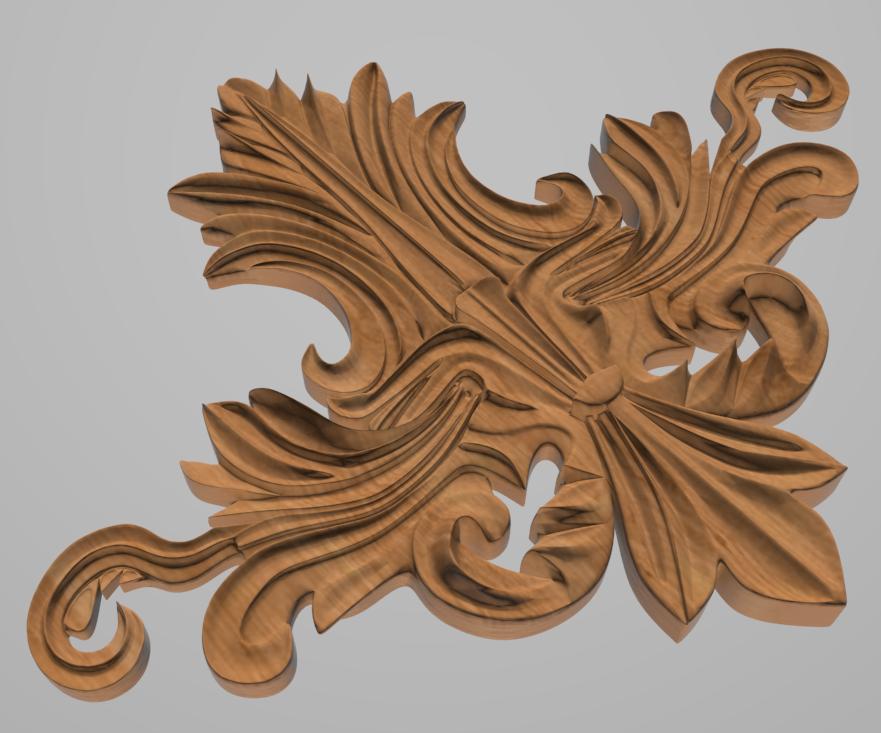 Код ДЦ24. Резной деревянный декор для мебели. Декор центральный