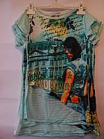 Модная детская футболка для девочек BLUELAND