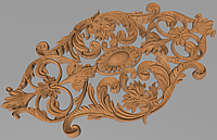 Код ДЦ25. Резной деревянный декор для мебели. Декор центральный, фото 1