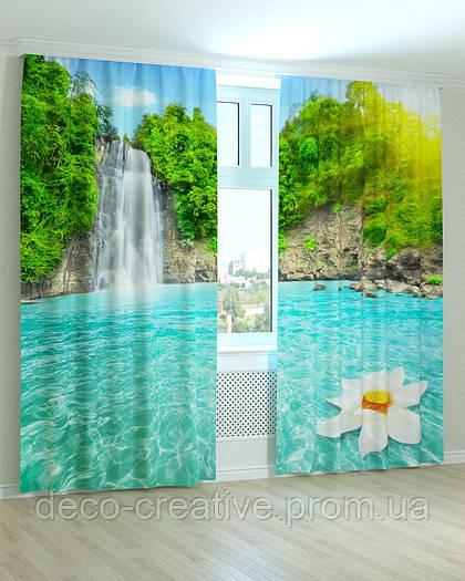 Фотошторы водопад с кристально чистой водой