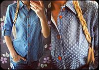 Джинсовая женская рубашка 849