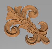 Код ДЦ27. Резной деревянный декор для мебели. Декор центральный, фото 1