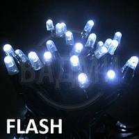 "Аренда led гирлянды ""нить-флеш LED-PLR-50-5М-240V-CW-F"", 5+ м, белый тепл.+белый хол."