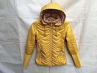 Куртка демисезонная подростковая для девочки 7-12 лет,горчичная