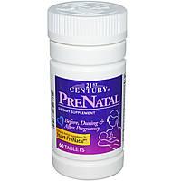 Витамины для беременных PreNatal, 21st Century Health Care. Сделано в США. Мультивитаминный комплекс, 60 табл