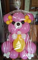 Мишка Гвидо из воздушных шаров. Цвета в ассортименте.
