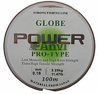 Леска Power Globe 100 м 0.18- 0.5
