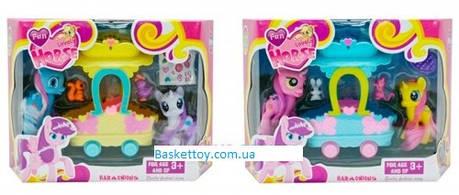 Набір ігровий My Little Pony, 2 види, 2 поні, з акссесуарами, каретою, арт.3209F, фото 2