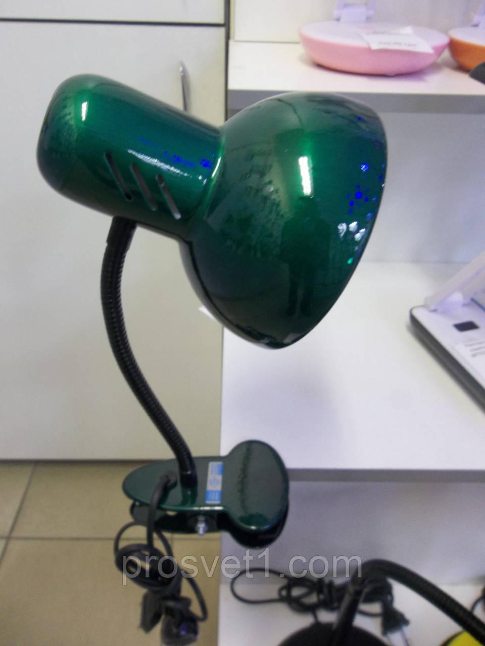 """Настольная лампа  на прищепке Loga L-102 """"Изумруд"""""""