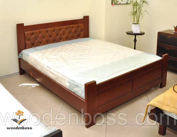 """Кровать двухспальная от """"Wooden Boss"""" Палермо Софт(спальное место - 160х190/200)"""