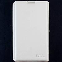 Чехол-книжка для Sony Xperia ZL, L35h, C6502, C6503, C6506, боковой, кожаный с силиконовой вкладкой, Pielcedan, Белый /flip case/флип кейс /сони