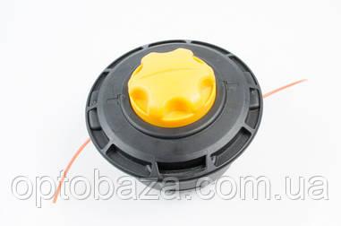 Катушка (шпуля) желтая автоматическая для бензиновой косы