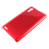 Чехол для LENOVO P780, пластиковый, Buble Pack, Малиновый /case/кейс /леново