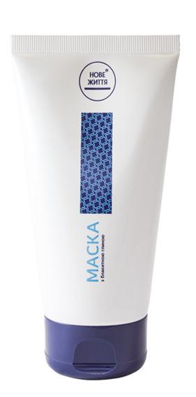 Маска для догляду за волоссям та шкірою голови з блакитною глиною