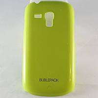 Чехол-накладка для Samsung Galaxy S3 mini, i8190, пластиковый, Buble Pack, Лайм /case/кейс /самсунг галакси