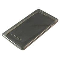 Чехол-накладка для Sony Xperia M C1905, ультратонкий силиконовый, серый /case/кейс /сони