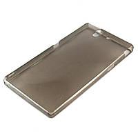Чехол-накладка для Sony Xperia Z L36h, C6602 Yuga, ультратонкий силиконовый, Черный /case/кейс /сони