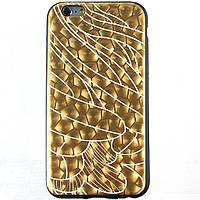 Чехол-накладка для Apple iPhone 6S iPhone 6, силиконовый, Black-Gold series, Золотистый /case/кейс /айфон