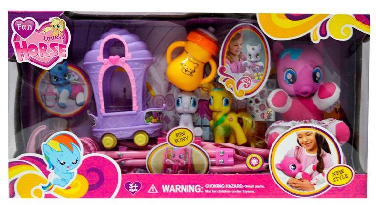Набор игровой My Little Pony Пони с коляской, с аксессуарами, арт.3223А