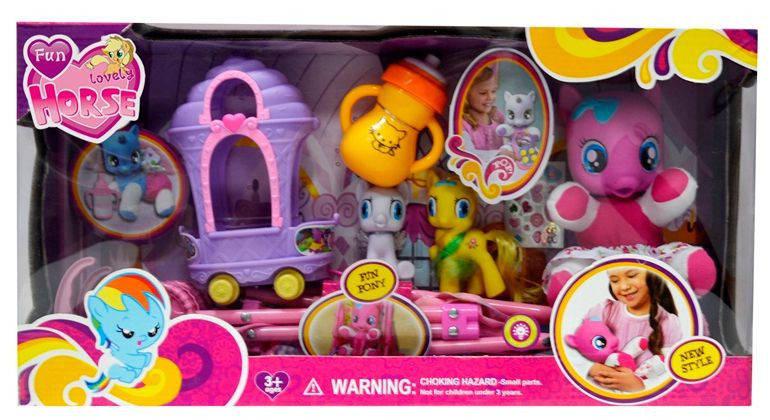 Набор игровой My Little Pony Пони с коляской, с аксессуарами, арт.3223А, фото 2