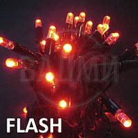 """Аренда led гирлянды """"нить-флеш LED-PLR-50-5М-240V-R-F"""", 5+ м, красный+белый хол."""
