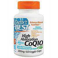 Коэнзим CoQ10, 200 мг, повышенной усваиваемости, 60 капсул. Doctor's Best. Сделано в США.