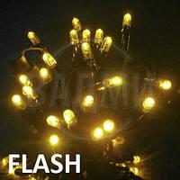 """Аренда led гирлянды """"нить-флеш LED-PLR-50-5М-240V-Y-F"""", 5+ м, желтый+белый хол."""