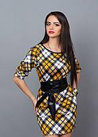 Модное женское платье в клетку, фото 1