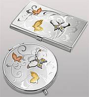 Подарочный женский набор Бабочка (зеркальце и визитница) WIN- 68