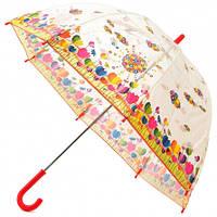 Детский прозрачный зонт Zest Цветочная поляна ( механика ) арт. 51510-18