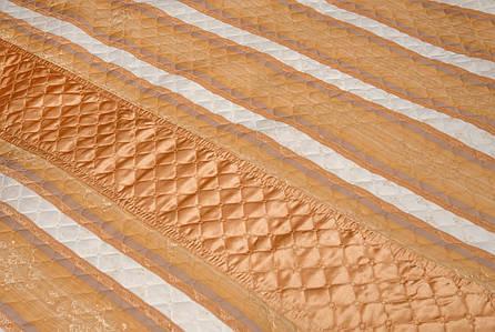 Покрывало-плед полоска золотая, фото 2