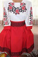 """Вишите жіноче плаття """"Мальвіна"""" червоне"""