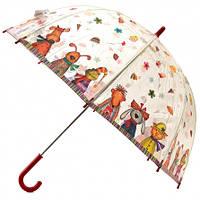 Детский прозрачный зонт Zest Веселые звери ( механика ) арт. 51510-20