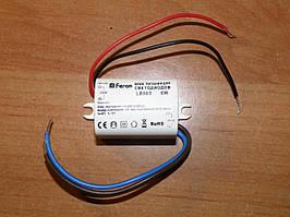 Блок питания Feron LB003 6w 12v (драйвер)