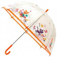 Детский прозрачный зонт Zest Котики ( механика ) арт. 51510-21