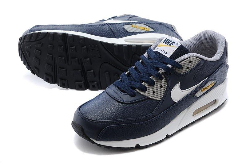 ac77efc7 ... Кроссовки мужские Nike Air Max 90 Premium LTR Obsidian/White/Wo  кроссовки найк аир ...
