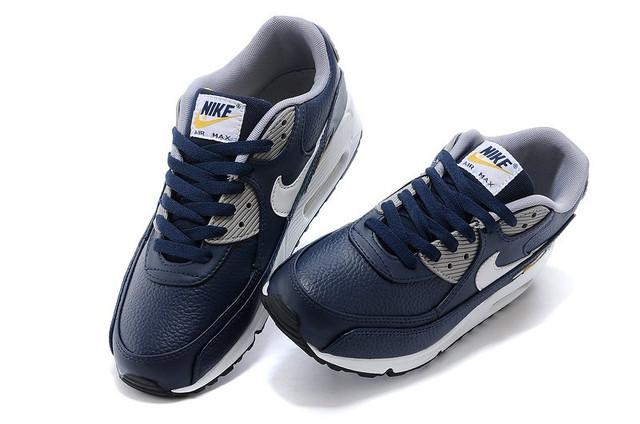 Кроссовки мужские Nike Air Max 90 Premium LTR Obsidian/White/Wo