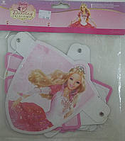 Гірлянда-вимпел з вітанням Barbie 12 Dancing Princesses