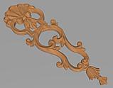 Код ДВ11. Деревянный резной декор для мебели. Декор вертикальный, фото 2