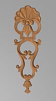 Код ДВ11. Деревянный резной декор для мебели. Декор вертикальный, фото 1