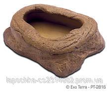 Кормушка Exo Terra Worm Dish/Feeder для рептилий под мучных червей, 8,5х4,5х10см