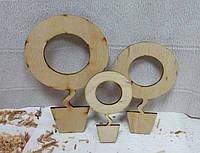 Основа для магнита, топиарий Круг-2, 12,5см