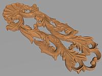 Деревянный резной декор для мебели. Декор вертикальный
