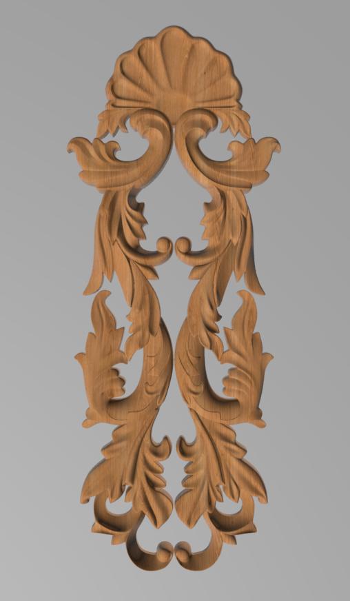Код ДВ12. Деревянный резной декор для мебели. Декор вертикальный