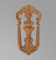 Код ДВ13. Деревянный резной декор для мебели. Декор вертикальный, фото 1