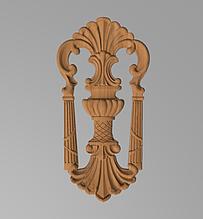 Код ДВ13. Деревянный резной декор для мебели. Декор вертикальный