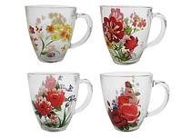 Чашка Цветы 360мл SNT 7363