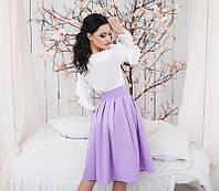 Нежная женская юбка Amur цвет сирени 42-46